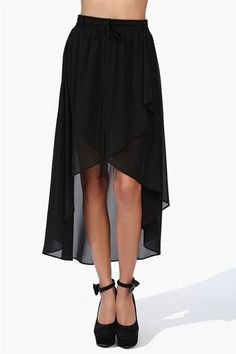 #Necessary Clothing       #Skirt                    #Chessy #Chiffon #Skirt #Black                      Chessy Chiffon Skirt - Black                                                  http://www.seapai.com/product.aspx?PID=41864