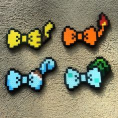 Pokemon bows perler beads by captainamberica