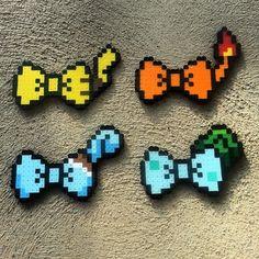 Pokemon bows perler beads by captainamberica