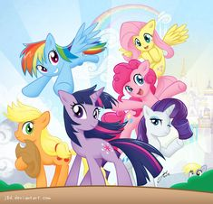 MLP: Mane Six And A Hidden Character