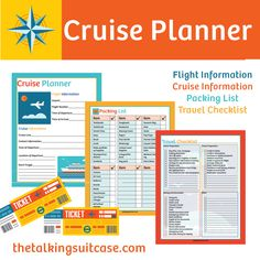 Before taking your next adventure on the high seas, download my FREE printable cruise planner. You'll find plenty of space to enter your flight and cruise information, as well access to my cruise packing list and travel checklist.