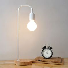 Nordic Fashion Study Bedroom Bedside Wooden Wood Robot Folding Table Lamp Lights & Lighting Edward Wood Lamp Ceiling Lights & Fans