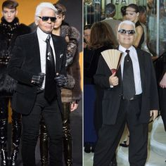 Pin for Later: Style Takes Time: The Faces of Fashion Now and Then Karl Lagerfeld