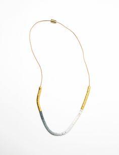 Julie Thevenot gradient island grey necklace at Bird : ShopBird.com