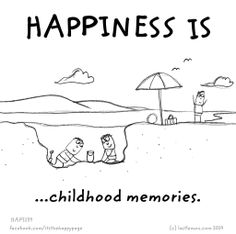 Happiness is... tadpoles, mud, river and rope swing. Racing snail's in my garden and planting flower seeds and seeing them grow