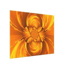 #flower - #Orange Sun Lotus C SDL Canvas Print