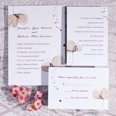 Simple watercolor flower wedding invitations EWI232 as low as $0.94