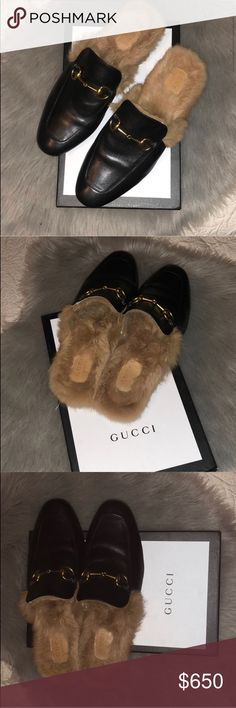 Gucci Princetown Fur Loafers Slippers Size: 44 (Size 10 US Men)  Condition: 7.5 / 10, still in great shape.   You'll get lots of compliments wearing these!   * Ships within 24 hours or less EXCLUDING weekends.   * Submitted offers will be responded ONLY! Comments will not be responded & no trades!    Prada Louis Vuitton Chanel Goyard LV Luluemon Burberry Hermes Berkin Nike Purse Adidas Yeezy Supreme Bape Box Logo Wallet Jacket Stone Island Zara HM Luxury YSL Saint Laurent Versace Balmain…