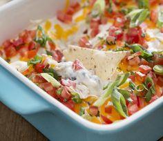 Chicken Nacho Dip #chicken #nacho #dip #protein #healthy