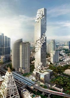 Design of a skyscraper for Bangkok in Thailand by OMA