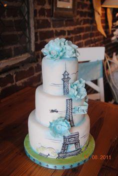 Paris Birthday cake — Birthday Cake Photos