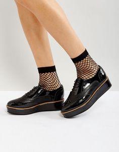 ecd005e4c98 ASOS MACAROON Flatform Lace Up Shoes - Black Nerdy Baby Clothes