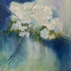 "Saatchi Online Artist Aase Lind; Painting, ""FLOWERS IN BLUE NO 1"" #art"