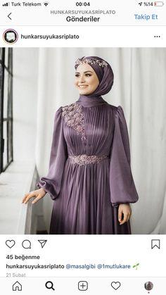 Hijab Evening Dress, Hijab Dress Party, Evening Dresses, Stylish Dress Designs, Stylish Dresses, Fashion Dresses, Muslim Women Fashion, Korean Girl Fashion, Hijabi Gowns