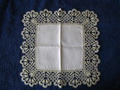Cluny bobbin lace handkerchief edging by Avital Pinnick, via Flickr
