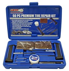 Tire Repair Kit 60-pc Professional Grade Heavy Duty Flat Repairs by GRIP Mowing Services, Best Cars For Women, Hand Cart, Hex Key, Flat Tire, Plastic Packaging, Blow Molding, Wheelbarrow, Tool Box