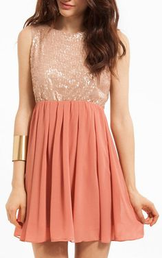 rosy sequin party dress