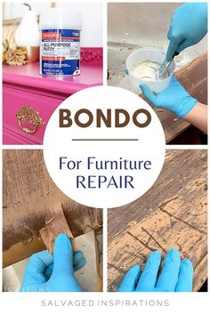 BONDO For Furniture Repair Repainting Furniture, Furniture Repair, Refurbished Furniture, Recycled Furniture, Doll Furniture, Furniture Makeover, Painted Furniture, Furniture Ideas, Scratched Wood