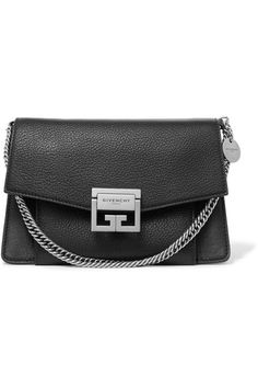 Givenchy | GV3 small textured-leather shoulder bag | NET-A-PORTER.COM