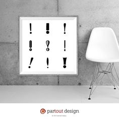 Printable Art exclamation mark prints Zen Art by partoutdesign