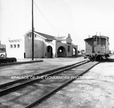 #VintageSantaFe  A.T. and S.F. Railway Depot Santa Fe, New Mexico - ca 1976 Photo By: Arthur Taylor Negative #117224