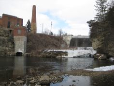 The Upper Junction Falls Dam on the Kinnickinnic River in River Falls, Wisconsin as it appears today. My Town, Wisconsin, Childhood, River, Infancy, Rivers, Early Childhood