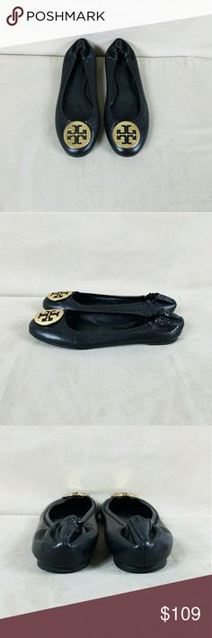 Tory Burch Reva Flats In excellent, preowned condition! They were very well cared for and come from a non smoking, pet free home. Made in Brazil. Hardware is gold. Price is firm. Tory Burch Shoes Flats & Loafers