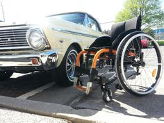 Old meet the new. OB new Ventus chair with an old ford