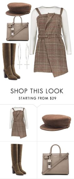 """Untitled #4648"" by dkfashion-658 on Polyvore featuring Maison Michel, Sergio Rossi, Yves Saint Laurent and Kiki Minchin"