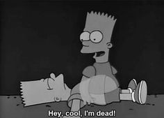 """The Simpsons, """"Bart Gets Hit by a Car"""" Simpsons Quotes, The Simpsons, Sad Wallpaper, Iphone Wallpaper, Los Simsons, Cartoon Pics, Mood Pics, Childhood, Funny Memes"""