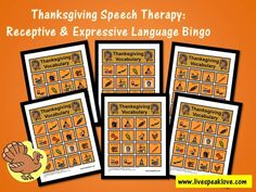 "Tonight I began compiling my ""Thanksgiving Speech Therapy"" series. I realize that we are not even past Halloween yet, but I know there are people out there diligently planning and expan… Speech Therapy Activities, Speech Language Pathology, Language Activities, Speech And Language, Thanksgiving Activities, Autumn Activities, Craft Activities For Kids, Thanksgiving Bingo, Love Speech"