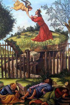 The Agony in the Garden - Sandro Botticelli (Italy, (Early Renaissance) Michelangelo, Sandro, Giorgio Vasari, Italian Renaissance Art, Renaissance Paintings, Italian Painters, Italian Artist, Agony In The Garden, Web Gallery Of Art