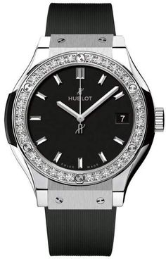 Hublot 581.nx.1171.rx.1104 Classic Fusion Quartz Diamonds Titanium 33mm Mens Watch #menswatches