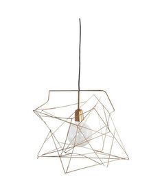 House Doctor - Luminaire à suspendre Assymmetric couleur cuivre