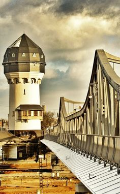 Water Tower and Bridge - Darmstadt, Germany