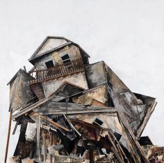 The online art portfolio of pittsburgh collage artist and sculptor Seth Clark. Carnegie Museum Of Art, Building Painting, A Level Art, House Drawing, Gcse Art, To Infinity And Beyond, Built Environment, Old Buildings, Art Portfolio