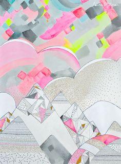 mahalolena | Laura Blythman's Neon Home | http://mahalolena.com