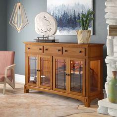Hooker Furniture, Solid Wood Furniture, Interior Led Lights, Teak Sideboard, Home Room Design, Mortise And Tenon, Modern Rustic Interiors, Table Linens, Adjustable Shelving