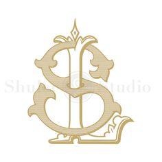 Custom Bride Monogram  LS SL  Bride Monogram  by ShulerStudio