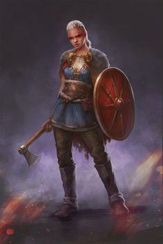Random warrior Gal sketch, Nastya Chorna on ArtStation at https://www.artstation.com/artwork/La1zv