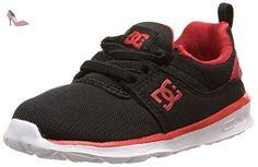 DC Shoes Heathrow T, Chaussures Bébé marche bébé garçon, Noir (Black/Red/White), 25.5 EU - Chaussures dc shoes (*Partner-Link)