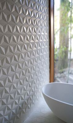 geometrical tiles as wall art