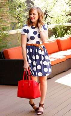 Love this little polka dot dress.