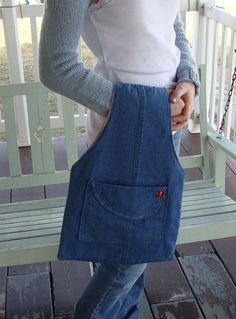 jeans recycled into a bag!