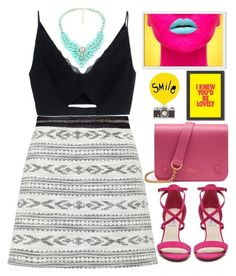 """""""SMILE // itsybitsy62"""" by itsybitsy62 ❤ liked on Polyvore featuring Miss Selfridge, Versace, Chelsea & Zoe, Mulberry, West Elm and Americanflat"""