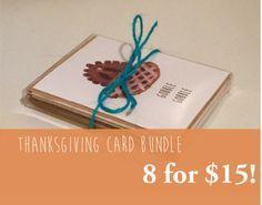 Thanksgiving cards 8 for $15!  https://www.etsy.com/shop/TayraLuceroCreations?ref=s2-header-shopname