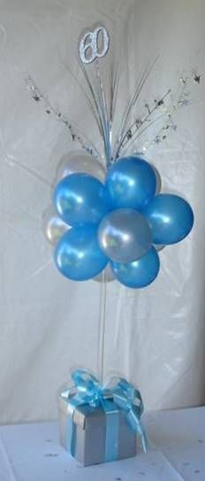 Topiary balloon arrangement, precious!  Could do a number of things for the bottom