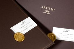 Arctic Club Hotel Marketing Folder Kit Detail