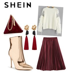 A fashion look from January 2018 featuring long sleeve lace top, red skirt and heeled booties. Browse and shop related looks. Mango, Forever 21, Street, Polyvore, Stuff To Buy, Shopping, Collection, Design, Women