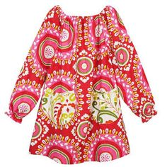 Caitlin dress. Pink green and red that you can wear for Christmas and way beyond! Cute pockets